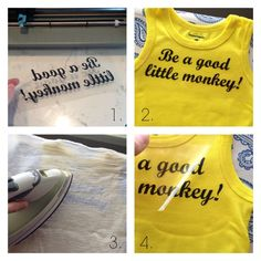 Maybe Matilda: DIY Curious George Shirt (Be a Good Little Monkey!) | a Silhouette heat transfer material project