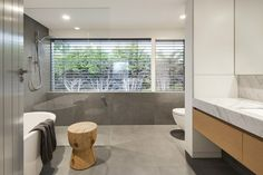 shower - Silver House is a renovation involving the complete transformation of a dated period style house into an unrecognisable contemporary modern design, transfo