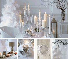 El blanco en la decoración de navidad | Ideas para decorar, diseñar y mejorar tu casa.