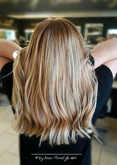 Golden dark blonde #beige blonde with low - lights #balayagehair #blondehair #beachy #lowlights #highlights