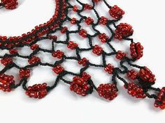 Hand Crochet Beadwork Choker Necklace Unique Summer por Nakkashe