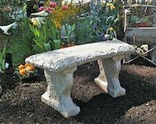 Small Curve Grapevine Bench Stone Garden Bench Concrete Garden