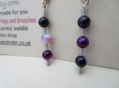 Hey, I found this really awesome Etsy listing at https://www.etsy.com/listing/113725690/purple-dangly-agate-gemstone-earrings www.kbrownjewellery.etsy.com