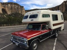 Mini Camper, Best Truck Camper, 79 Ford Truck, Camper Tops, Slide In Camper, Pickup Camper, Classic Campers, Classic Ford Trucks, Camper Caravan