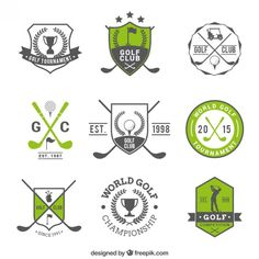 badges Golf invitation