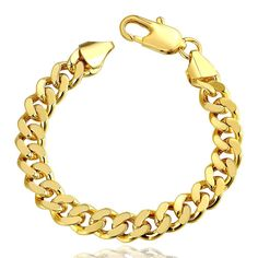 18K Classic Men's Bracelet with Austrian Crystal Elements, Women's 20CM Weightgrams: 39 -