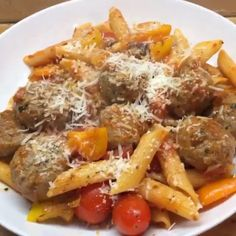 """Try my #leanin15 meatballs and pasta #"""