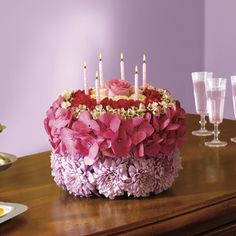 Teleflora Flower Cake So Cute Birthday Celebrations
