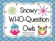 FREE Snowy Owls WHO Question Sets