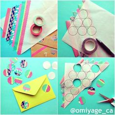 I'd never heard of 'washi' tape until Emma bou… cute washi tape idea. I'd never heard of 'washi' tape until Emma bought me some from Japan. It is awesome stuff and I can't get enough of it! Tape Crafts, Diy Arts And Crafts, Crafts For Teens, Diy Craft Projects, Diy Crafts To Sell, Washi Tape Cards, Washi Tape Diy, Washi Tapes, Kirigami