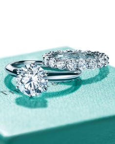 """The Tiffany® Setting. Well, the whole point is to lift the diamond so the setting becomes invisible and the diamond floats…. This is a Tiffany diamond, so the setting has to live up to it."" —Marcus Latronico, Tiffany & Co. diamond setter for 20 years. Wedding Engagement, Diamond Engagement Rings, Wedding Bands, Solitaire Diamond, Tiffany Diamond Rings, Tiffany Ring Engagement, Tiffany Wedding Rings, Oval Engagement, Marquise Diamond"