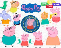 Crafting With Meek Peppa Pig Svg Svgs Pinterest