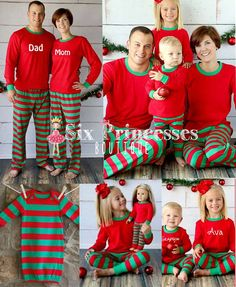 family christmas pajamas pjs sleepwear long johns by sixprincesses family holiday pajamas adult christmas pajamas