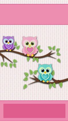 iBabyGirl Owl Pink Home Screen Wallpaper. Owl Clip Art, Owl Art, Decoupage Vintage, Owl Wallpaper, Iphone Wallpaper, Screen Wallpaper, Girls Quilts, Baby Quilts, Blogger Girl