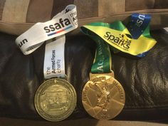 What a pair of beauties! A D-Day  Virtual Race and Gold Rush Virtual Race Medal Gold Rush, D Day, Racing, Auto Racing