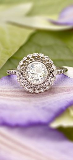 A gorgeous antique halo ring.