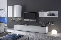 entertainment center ideas | Home theater and audio sets can be used to cover up electronic media ...