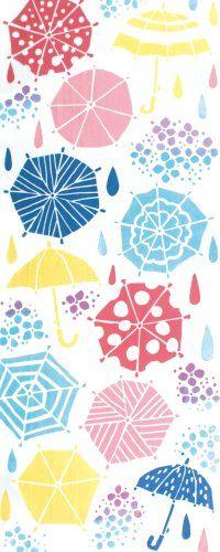 """kenema Chusen Tenugui """"Natsu no Fubutsushi"""" Ame Furi 36 x 90cm Natsu no Fubutsushi (夏の風物詩): Feature in summer Ame Furi (雨降り): Rainy"""