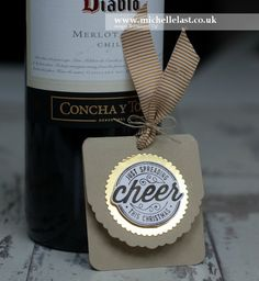 Bottle Tags using Here's to Cheers from Stampin Up! - with Michelle Last