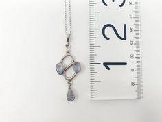 Natural moonstone necklace / 925 sterling silver moonstone | Etsy Stone Pendants, Stone Beads, Stones And Crystals, Moonstone Pendant, Moonstone Necklace, Amber Bracelet, Opal Jewelry, Minimalist Jewelry, Rainbow Moonstone