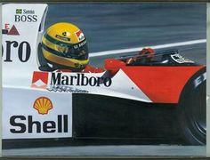 #McLaren #AyrtonSenna #F1 #12 #Shell #Marlboro