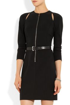 Michael Kors | Belted stretch-wool crepe mini dress | NET-A-PORTER.COM