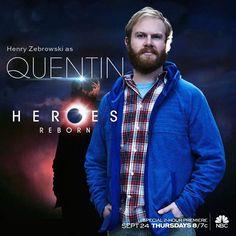Henry Zebrowski  Quentin  #HeroesReborn #HenryZebrowski