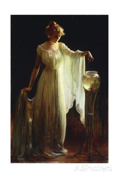 The Goldfish, 1911 Giclee Print by Charles Courtney Curran at AllPosters.com