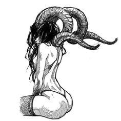 Satanic Tattoos, Scary Tattoos, Satanic Art, Dark Art Tattoo, Demon Tattoo, Body Art Tattoos, Demon Drawings, Dark Drawings, Blackwork