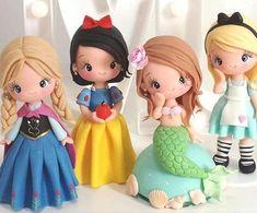 Anna, Blancanieves, Ariel y Alicia. Princesas de Disney.
