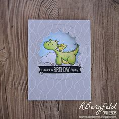 RBergfeld Card Designs - MFT Stamps, Magical Dragons
