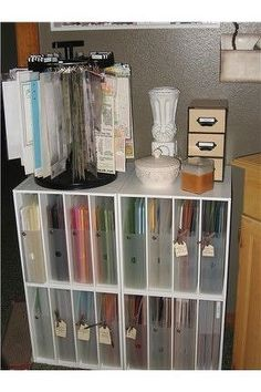 paper storage. this is brilliant!!  just turn it sideways!