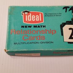 VTG Ideal New Math Relationship Flash Cards Teacher's Set Multiply Division 1963 | Collectibles, Historical Memorabilia, Teaching & Education | eBay!