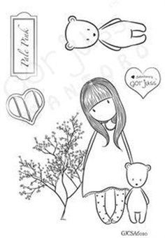 Gorjuss Santoro Stamps clipart and coloring pages Magnolia Stamps, Copics, Colouring Pages, Digital Stamps, Colorful Pictures, Clear Stamps, Hobbies And Crafts, Doll Patterns, Paper Dolls