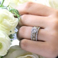Fine Detailing - Mixed Metals - Stacked Band Mixed Metals, Diamond Rings, Engagement Rings, Band, Jewelry, Jewellery Making, Wedding Rings, Sash, Jewerly