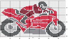boys_Motor Cross Stitch For Kids, Cross Stitch Charts, Cross Stitch Designs, Cross Stitch Patterns, Loom Beading, Beading Patterns, Stitch Toy, 3d Perler Bead, Crochet Cross