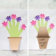 Over of the best Mothers Day Crafts for Kids. Lots of homemade crafts and gifts kids can make for Mother's Day. Handprint crafts, cards, and keepsakes Mom will love! Best Mothers Day Gifts, Mothers Day Crafts For Kids, Crafts For Kids To Make, Mothers Day Cards, Valentines For Kids, Happy Mothers Day, Flower Pot Crafts, Flower Pots, Toddler Crafts