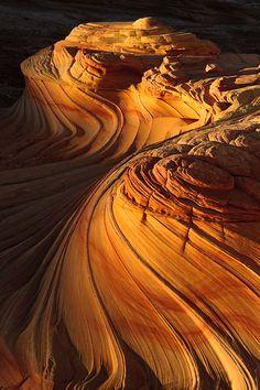 Sandstone Swirls in northern Arizona's Vermilion Cliffs National Monument.  Photo by Joseph Rossbach.