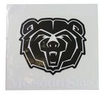 Decal - Black BearHead with Missouri State