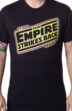 The Empire Strikes Back Logo T-Shirt: Star Wars Mens T-shirt