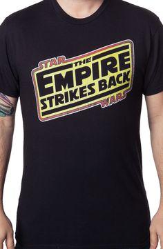 The Empire Strikes Back Logo T-Shirt: Star Wars Mens T-shirt