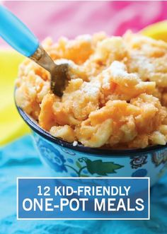 With recipes like One-Pot Chicken Fried Rice, Cheeseburger Pasta, and Slow Cooker Mac and Cheese, these 12 kid-friendly one-pot meals are easy to prepare for a lunch or dinner. They are full of savory flavors and are sure to be a big hit. Save these quick ideas for busy school nights when your family is craving a big bowl of comfort.