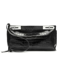 Crocodile Missy Bag | Moda Operandi ($14,900) ❤ liked on Polyvore featuring bags, handbags, croc bags, crocodile handbags, croc embossed bag, croc embossed handbags and croc purse