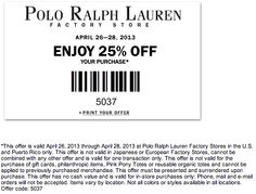 Polo Coupon 25 Ralph Lauren Outlet HeEWD9Y2Ib
