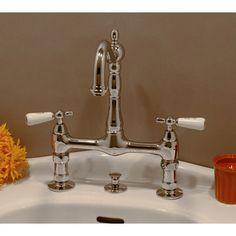 Strom Plumbing 8-inch Columbia Bridge Faucet Set w/Gooseneck Spout ...