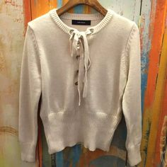 Isabel marant charley wool lace up sweater New without tags - French size 36 will fit size xs or small. New for this season and sold out everywhere :) Isabel Marant Sweaters Crew & Scoop Necks