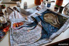 """SKRIK: Borsa dipinta ispirata al """"Grido"""" di Munch"""