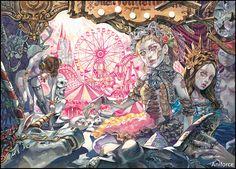 Cartoon Drawings, Cartoon Art, Art Drawings, Character Illustration, Illustration Art, Composition Art, Korean Art, Dark Fantasy Art, Environmental Art