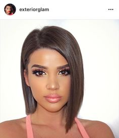 "Awesome short asymmetrical bob cut - thanks @exteriorglam for the idea! ❤Check out ""My Posh Closet"" boards for some great finds! Or follow/like me on Poshmark: @leenybeeny ❤"