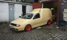 Image result for vw caddy mk2 lowering